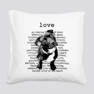 Pit Bull Love Square Canvas Pillow