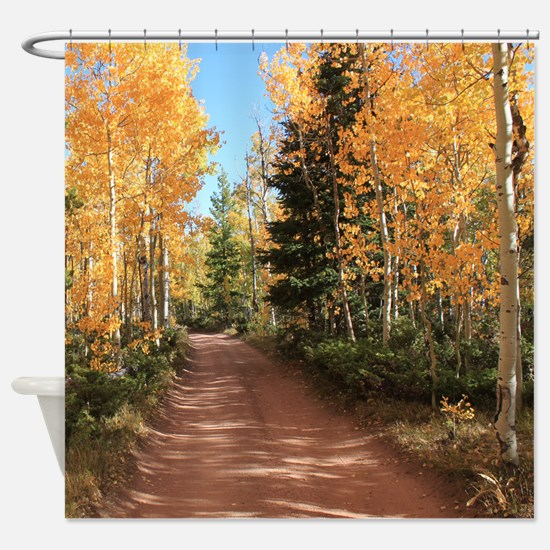 Colorado Autumn Road Shower Curtain