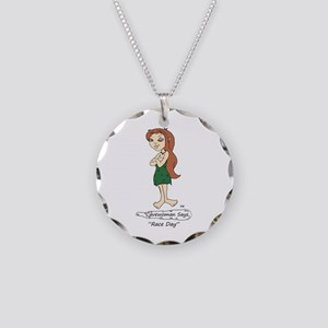 Race Day Necklace Circle Charm