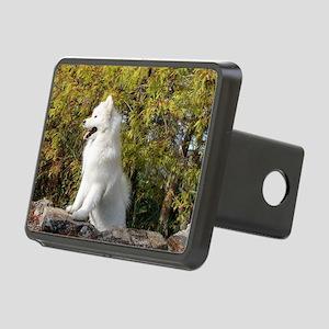 Fall Samoyed Rectangular Hitch Cover