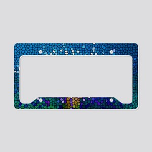 Stained Glass Anemone  License Plate Holder