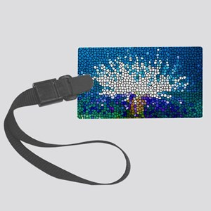 Stained Glass Anemone  Large Luggage Tag