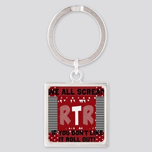 Edit text RTR hounds tooth Keychains
