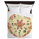 Leonberger Dogs Queen Duvet