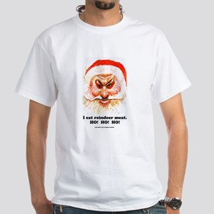 Santa eats reindeer meat White T-Shirt