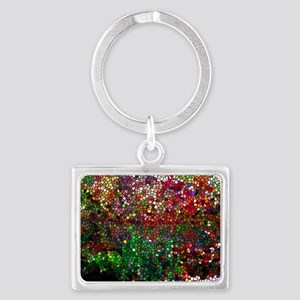 Stained Glass Fall Reflected In Landscape Keychain