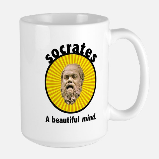 Socrates' Beautiful Mind Large Mug