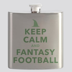 Keep Calm and Fantasy Football Flask