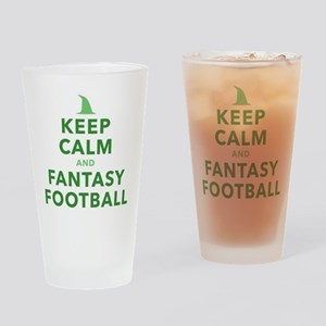 Keep Calm and Fantasy Football Drinking Glass