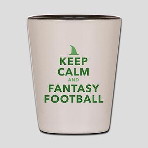 Keep Calm and Fantasy Football Shot Glass
