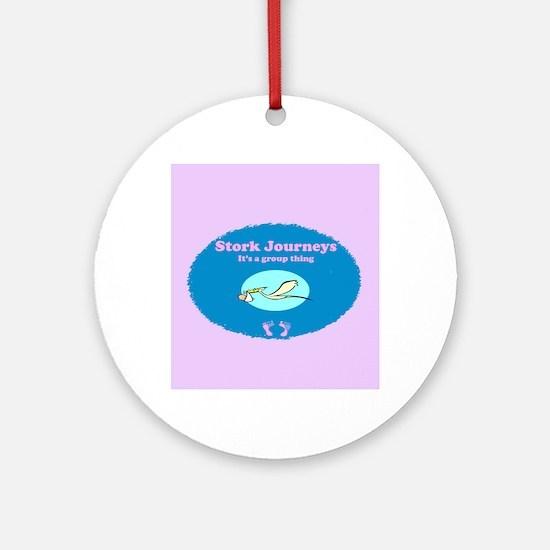 Stork Journeys Surrogacy Group Ornament (Round)