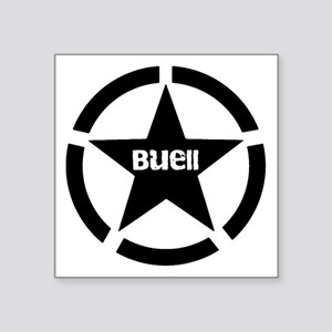 "Buell Star Black Square Sticker 3"" x 3"""