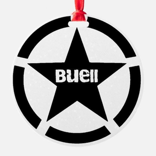 Buell Star Black Ornament