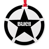 Buell motorcycles Round Ornament