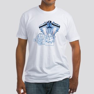 Buell Engine Blue Fitted T-Shirt