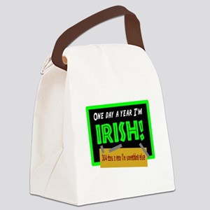 One Day A Year Im Irish Canvas Lunch Bag