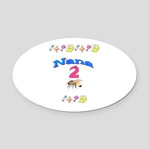 Nana 2 Be Oval Car Magnet