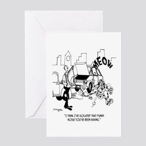 Isolating That Funny Noise Greeting Card