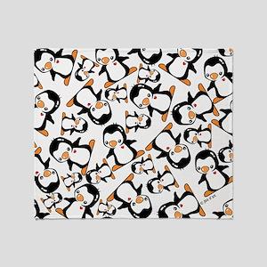 Cute Penguins Throw Blanket