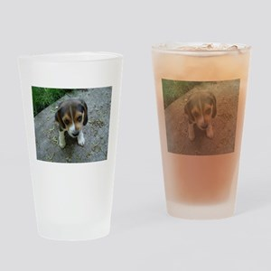 Cute Beagle Puppy Drinking Glass