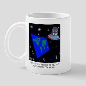 Flat Earth & No Global Warming Mug