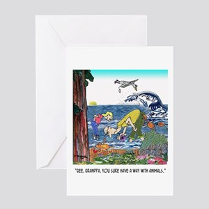 A Way With Tidepool Animals Greeting Card