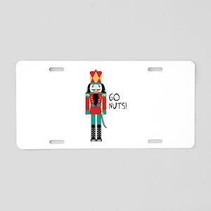 GO NUTS Aluminum License Plate