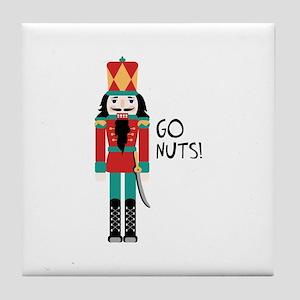 GO NUTS Tile Coaster