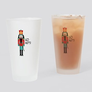 GO NUTS Drinking Glass