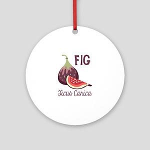 Fig Ficus Carica Ornament (Round)