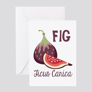 Fig Ficus Carica Greeting Cards