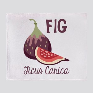 Fig Ficus Carica Throw Blanket