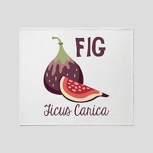 Fig Ficus Carica Throw Blanket