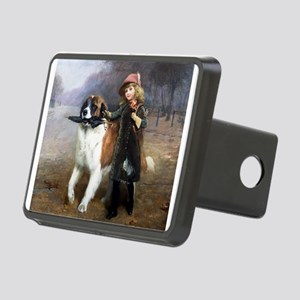 A Little Girl and Her Dog Hitch Cover