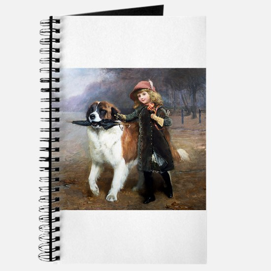 A Little Girl and Her Dog Journal