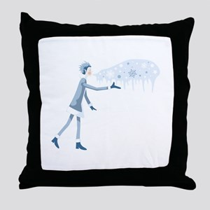 Jack Frost Throw Pillow