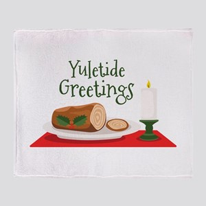 Yuletide Greetings Throw Blanket