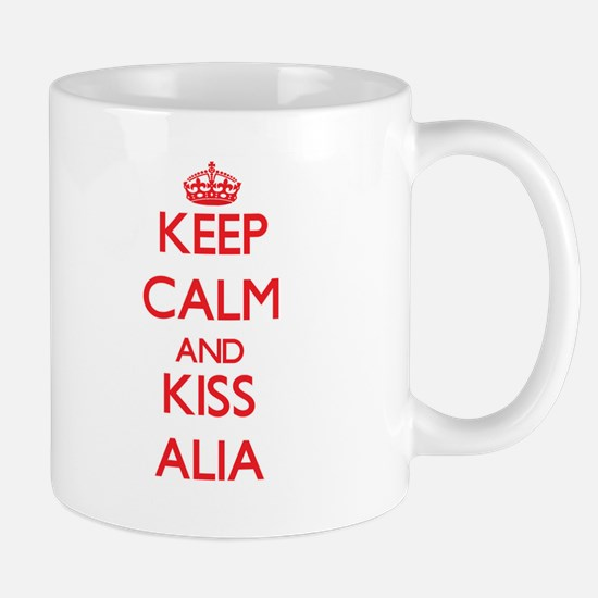 Keep Calm and Kiss Alia Mugs