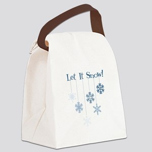 Let It Snow! Canvas Lunch Bag