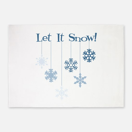 Let It Snow! 5'x7'Area Rug