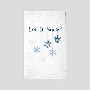 Let It Snow! 3'x5' Area Rug