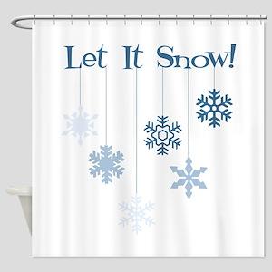 Let It Snow! Shower Curtain