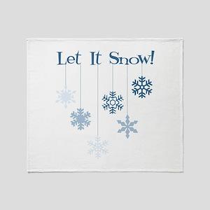 Let It Snow! Throw Blanket