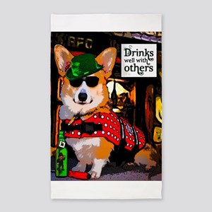 Irish Pub Corgi 3'x5' Area Rug