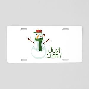 Just Chillin Aluminum License Plate