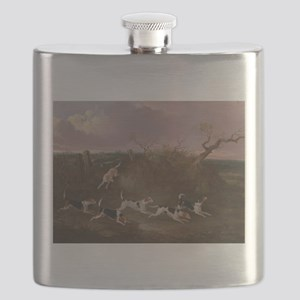 Beagles in Full Cry Flask
