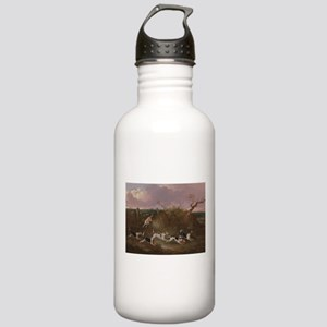 Beagles in Full Cry Water Bottle