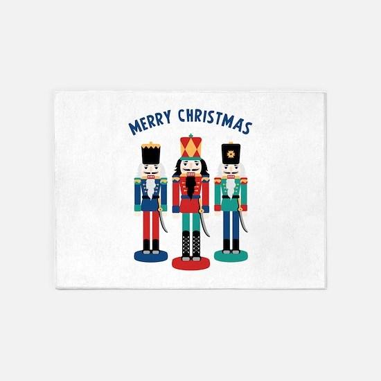 MERRY CHRISTMAS 5'x7'Area Rug