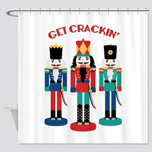 GET CRACKIN Shower Curtain