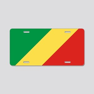 Congo Republic Flag Aluminum License Plate